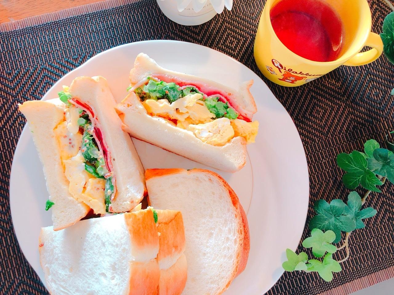 「【衛宮さんちの今日のごはん】週末ランチは菜の花とベーコンのサンドイッチで春を感じて」のアイキャッチ画像