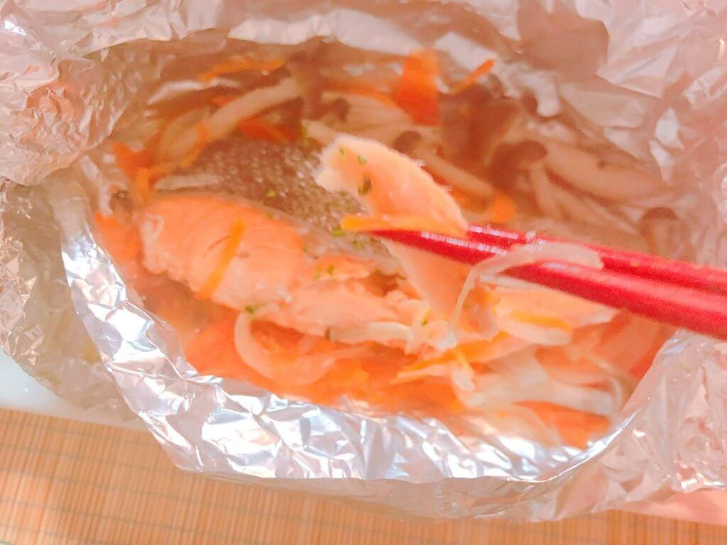 鮭ときのこのバターホイル焼き完成写真